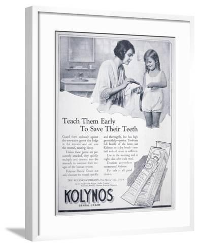 Advert for Kolynos Dental Cream, 1922--Framed Art Print