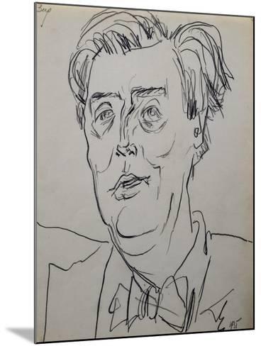 Portrait of Alban Berg--Mounted Giclee Print