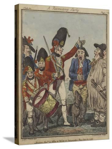 A Recruiting Party, 1797-Isaac Robert Cruikshank-Stretched Canvas Print