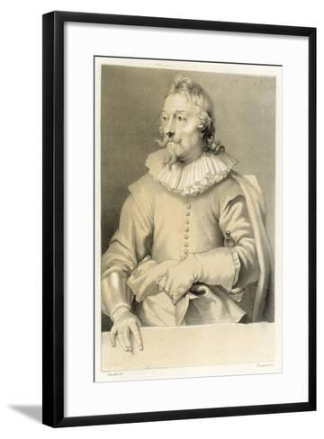 Portrait of a Man-Sir Anthony Van Dyck-Framed Art Print