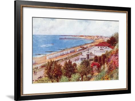 The Bay and Spa Gardens, Felixstowe-Alfred Robert Quinton-Framed Art Print