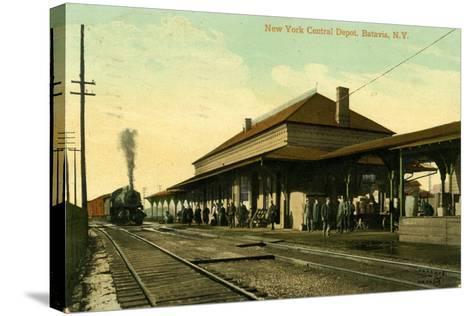 New York Central Depot, Batavia, New York, 1910--Stretched Canvas Print