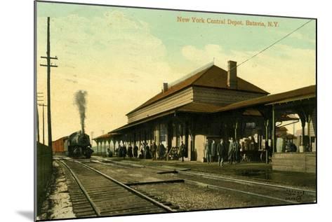 New York Central Depot, Batavia, New York, 1910--Mounted Giclee Print