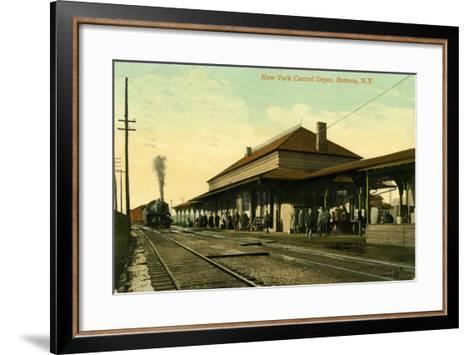 New York Central Depot, Batavia, New York, 1910--Framed Art Print