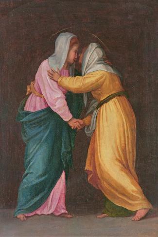 The Visitation, Carro Della Zecca-Jacopo da Carucci Pontormo-Stretched Canvas Print