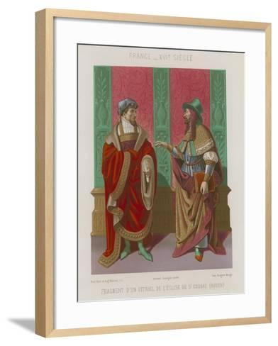 Fragment of a Window in the Church of St Godard--Framed Art Print