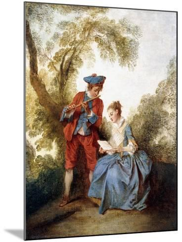 A Couple Making Music in a Landscape-Nicolas Lancret-Mounted Giclee Print