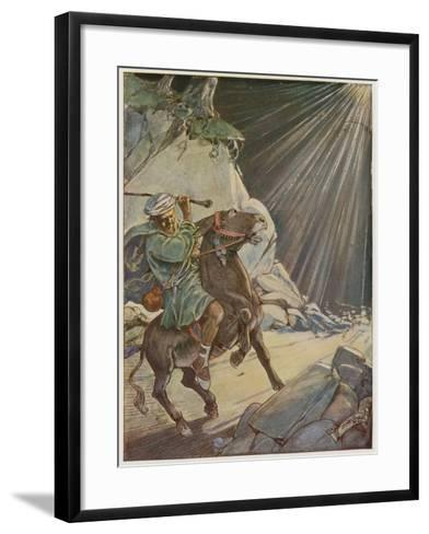 He Took His Staff and Beat the Poor Beast-Tony Sarg-Framed Art Print