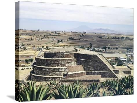 The Temple of Quetzalcoatl in Calixtlahuaca--Stretched Canvas Print