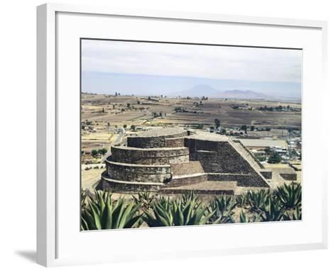 The Temple of Quetzalcoatl in Calixtlahuaca--Framed Art Print