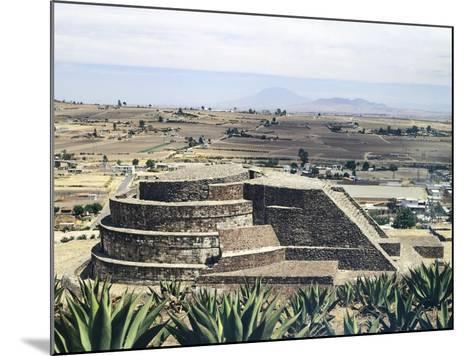 The Temple of Quetzalcoatl in Calixtlahuaca--Mounted Giclee Print