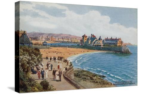 Weston-Super-Mare, Knightstone Pier and Two Bays-Alfred Robert Quinton-Stretched Canvas Print