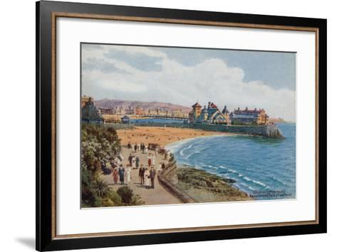 Weston-Super-Mare, Knightstone Pier and Two Bays-Alfred Robert Quinton-Framed Art Print