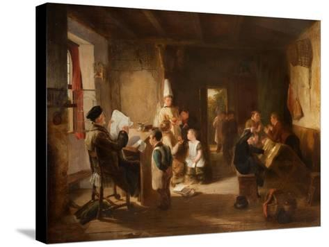 The School Room-Thomas Webster-Stretched Canvas Print