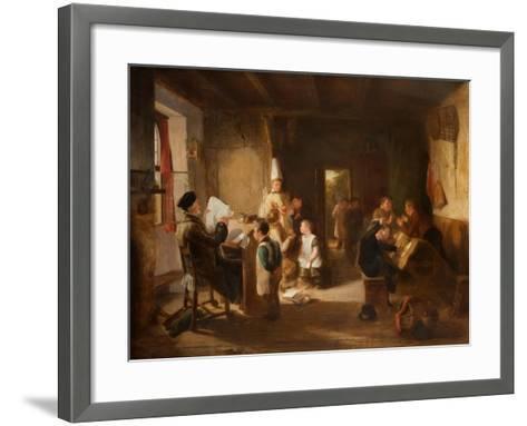 The School Room-Thomas Webster-Framed Art Print