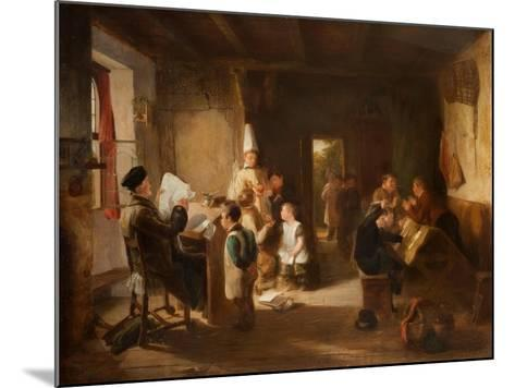 The School Room-Thomas Webster-Mounted Giclee Print