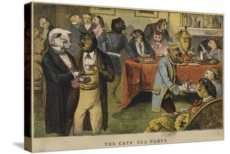 The Cats' Tea Party--Stretched Canvas Print