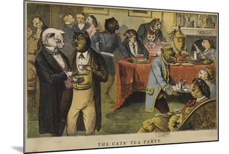 The Cats' Tea Party--Mounted Giclee Print