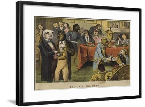 The Cats' Tea Party--Framed Art Print