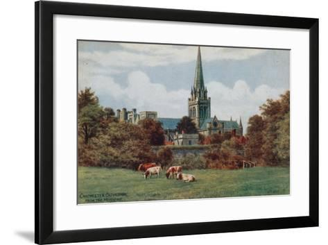 Chichester, Cathedral, from the Meadows-Alfred Robert Quinton-Framed Art Print