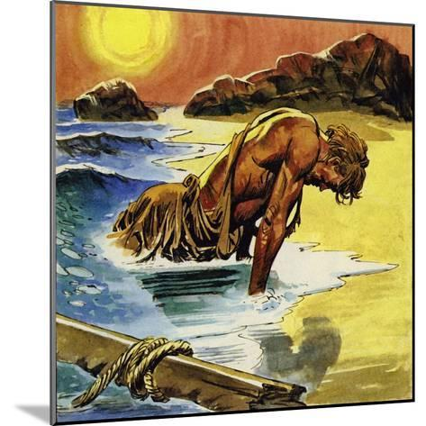 Ulysses Washed Up on the Island of Ogygia--Mounted Giclee Print
