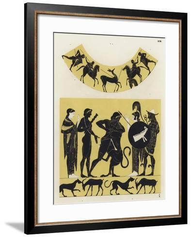 Hercules Fighting the Nemean Lion--Framed Art Print