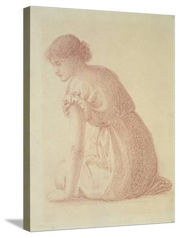 A Seated Figure of a Woman, 19th Century-Edward Burne-Jones-Stretched Canvas Print