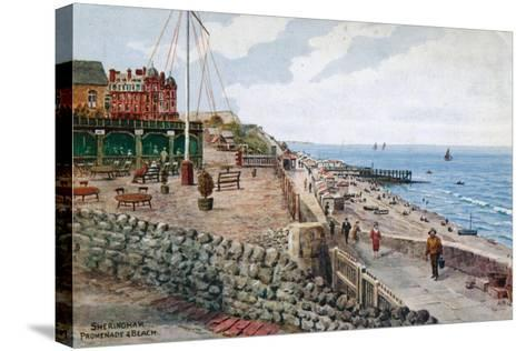 Sheringham, Promenade and Beach-Alfred Robert Quinton-Stretched Canvas Print