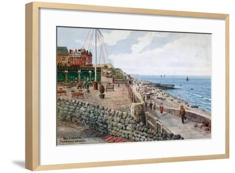 Sheringham, Promenade and Beach-Alfred Robert Quinton-Framed Art Print