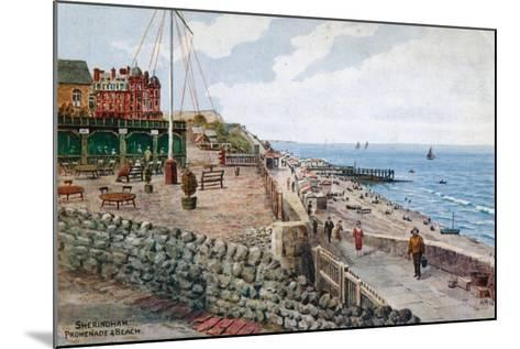 Sheringham, Promenade and Beach-Alfred Robert Quinton-Mounted Giclee Print