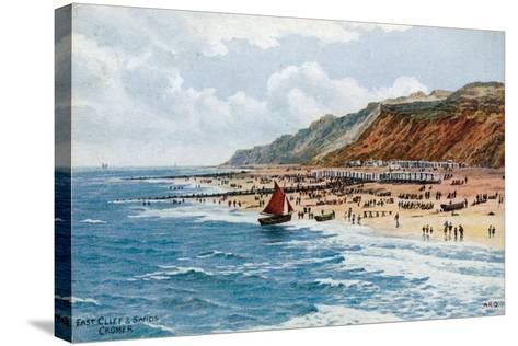 East Cliff and Sands, Cromer-Alfred Robert Quinton-Stretched Canvas Print