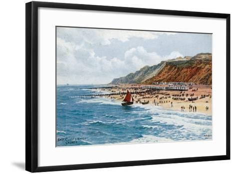 East Cliff and Sands, Cromer-Alfred Robert Quinton-Framed Art Print