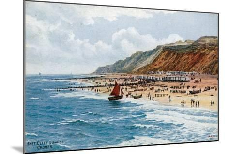 East Cliff and Sands, Cromer-Alfred Robert Quinton-Mounted Giclee Print