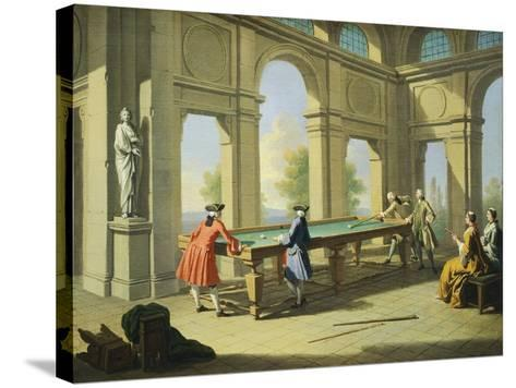 Games, Pool Table, 1751-1752-Giuseppe Zocchi-Stretched Canvas Print