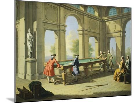 Games, Pool Table, 1751-1752-Giuseppe Zocchi-Mounted Giclee Print