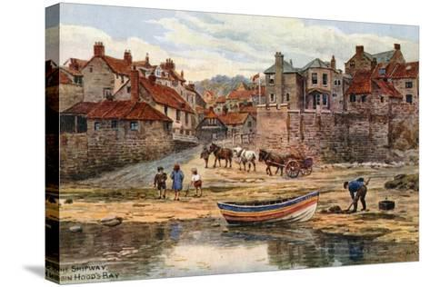 The Shipway, Robin Hood's Bay-Alfred Robert Quinton-Stretched Canvas Print