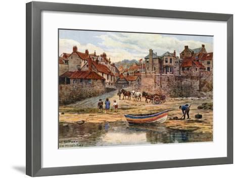 The Shipway, Robin Hood's Bay-Alfred Robert Quinton-Framed Art Print