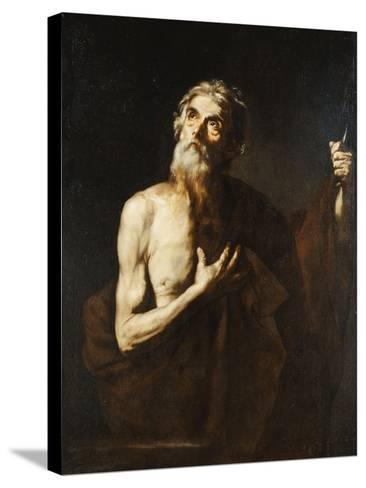 Saint Bartholomew, 1634-Jusepe de Ribera-Stretched Canvas Print