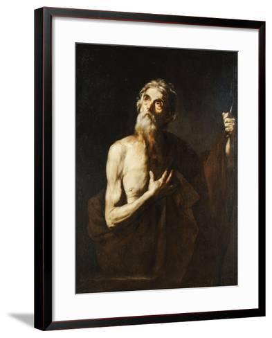Saint Bartholomew, 1634-Jusepe de Ribera-Framed Art Print