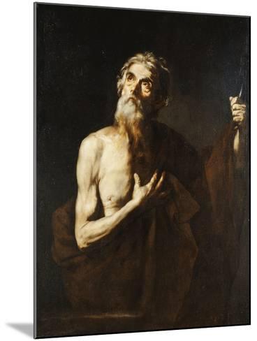 Saint Bartholomew, 1634-Jusepe de Ribera-Mounted Giclee Print