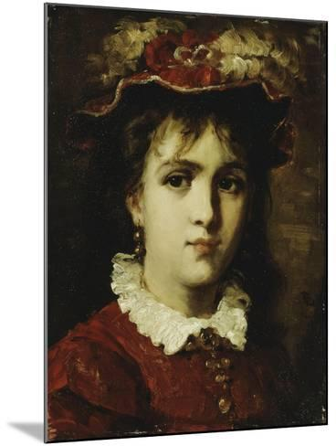 Portrait of a Young Girl, 1876-Leon Joseph Florentin Bonnat-Mounted Giclee Print