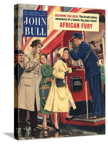 Front Cover of 'John Bull', January 1954--Stretched Canvas Print