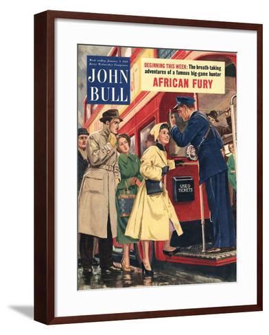 Front Cover of 'John Bull', January 1954--Framed Art Print