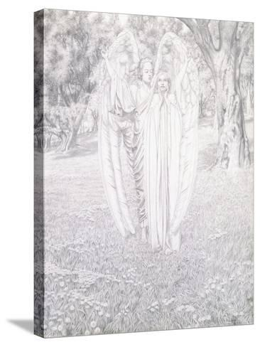Two Angels, 1904-Carlos Schwabe-Stretched Canvas Print