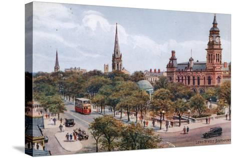 Lord Street, Southport-Alfred Robert Quinton-Stretched Canvas Print