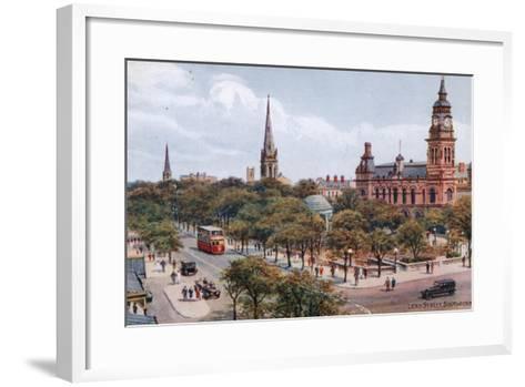 Lord Street, Southport-Alfred Robert Quinton-Framed Art Print