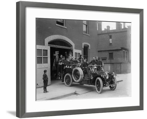 Packard Fire Squad, 1911--Framed Art Print