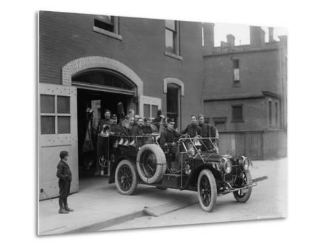 Packard Fire Squad, 1911--Metal Print