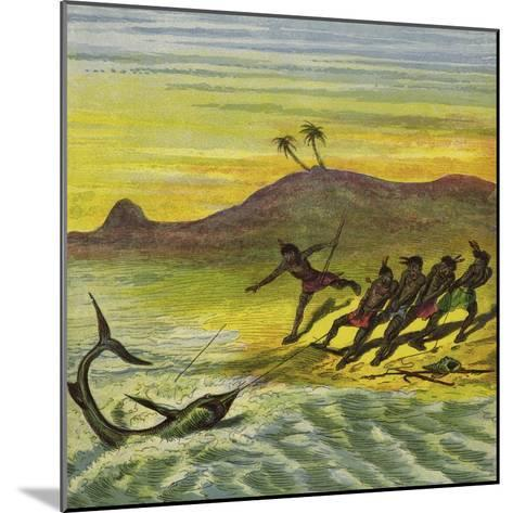 Catching a Shark-Ernest Henry Griset-Mounted Giclee Print