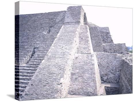 The Pyramid of Tenayuca--Stretched Canvas Print